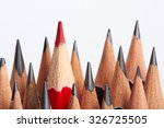 red pencil standing out from... | Shutterstock . vector #326725505