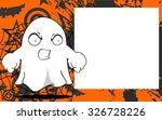 ghost halloween cartoon... | Shutterstock .eps vector #326728226