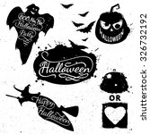 hand drawn halloween design... | Shutterstock .eps vector #326732192