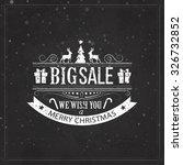 christmas sale design set  ... | Shutterstock . vector #326732852
