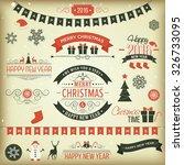 christmas set   labels  emblems ... | Shutterstock . vector #326733095