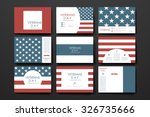set of brochure  poster... | Shutterstock .eps vector #326735666