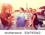 youth group vacation travel city | Shutterstock . vector #326742062