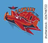 captain of the sky | Shutterstock .eps vector #326748722