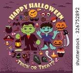 vintage halloween poster design | Shutterstock .eps vector #326752892