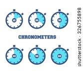 set of sport chronometers icon... | Shutterstock .eps vector #326755898