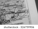 map view of ipswich  uk on a...   Shutterstock . vector #326759906