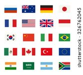 simple flags icons of the... | Shutterstock .eps vector #326762045