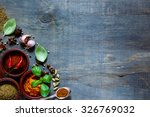 Top View Of Colorful  Spices...