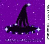 vector halloween background... | Shutterstock .eps vector #326771402