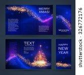 christmas banner   flyer... | Shutterstock .eps vector #326772176