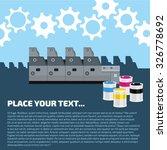 advertisement offset machine... | Shutterstock .eps vector #326778692