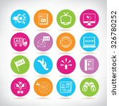 advertisement icons and digital ... | Shutterstock .eps vector #326780252