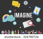 imagine imagination ideas... | Shutterstock . vector #326780726
