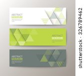 set of modern design banners... | Shutterstock .eps vector #326789462