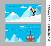 concept skiing winter sport... | Shutterstock .eps vector #326799092