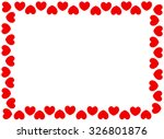 Red Hearts Frame With White...