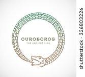 abstract vector ouroboros snake ... | Shutterstock .eps vector #326803226