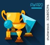 sport or business background... | Shutterstock .eps vector #326805296