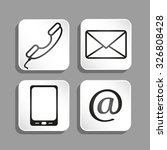 e mail and phone icons vector... | Shutterstock .eps vector #326808428