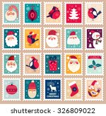 christmas beautiful cheerful... | Shutterstock .eps vector #326809022