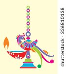 traditional indian lamp | Shutterstock .eps vector #326810138