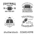 set of american football team... | Shutterstock .eps vector #326814398