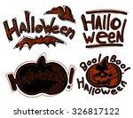 set of halloween elements   Shutterstock .eps vector #326817122