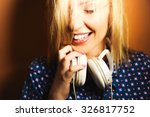 close up portrait of a girl on... | Shutterstock . vector #326817752