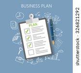 business plan flat vector... | Shutterstock .eps vector #326821292