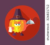 flat vector card with chef... | Shutterstock .eps vector #326821712