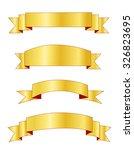 set of different shape golden... | Shutterstock . vector #326823695
