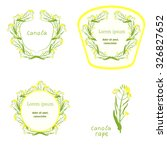 floral frame collection. set of ... | Shutterstock .eps vector #326827652