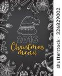 vector christmas restaurant...   Shutterstock .eps vector #326829002