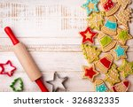 Christmas Cookies  Rolling Pin...