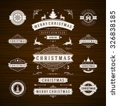 christmas decorations vector... | Shutterstock .eps vector #326838185