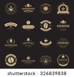 coffee shop logos  badges and... | Shutterstock .eps vector #326839838
