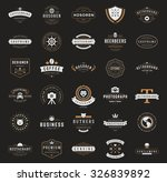 retro vintage logotypes or... | Shutterstock .eps vector #326839892