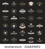 retro vintage logotypes or... | Shutterstock .eps vector #326839892