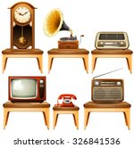 retro antiques on wooden table... | Shutterstock .eps vector #326841536
