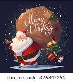 Santa Drops Gifts. Christmas...