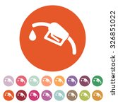 the gas station icon. gasoline... | Shutterstock .eps vector #326851022