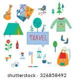 travel and tourism icons set... | Shutterstock .eps vector #326858492