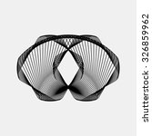 black abstract fractal shape...