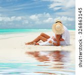 happy honeymoon vacation at... | Shutterstock . vector #326863145