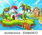 Illustration  Small Lighthouse...