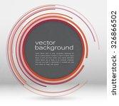 techno vector circle abstract... | Shutterstock .eps vector #326866502