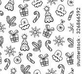 christmas black and white...   Shutterstock .eps vector #326866592