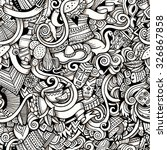 cartoon hand drawn doodles on... | Shutterstock .eps vector #326867858