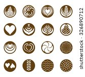 coffee latte art icon with... | Shutterstock .eps vector #326890712